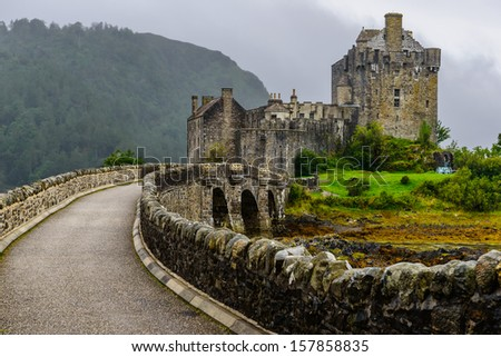 Eilean Donan Castle, western Highlands of Scotland, UK - stock photo