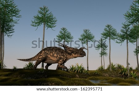 einiosaurus on shore