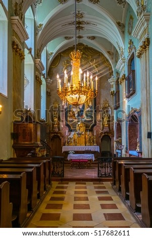 EISENSTADT, AUSTRIA, JUNE 18, 2016: View of a chapel of the famous esterhazy palace in the austrian city Eisenstadt, capital of Burgenland region.
