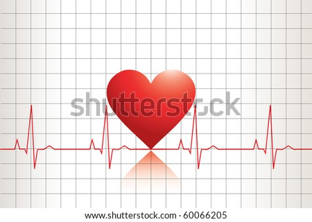 Ekg heart beat - stock photo