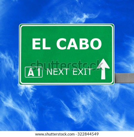 EL CABO road sign against clear blue sky