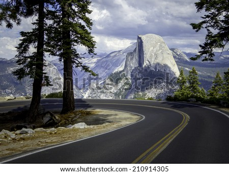 El Capitan USA Yosemite national park road trip  - stock photo