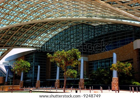 El Centro de Convenciones de Puerto Rico is the an example of ultra modern architecture and the main convention center in San Juan, PR, USA. - stock photo