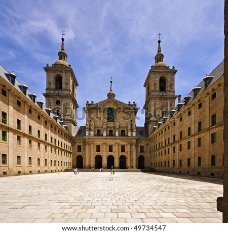 El Escorial Palace - stock photo