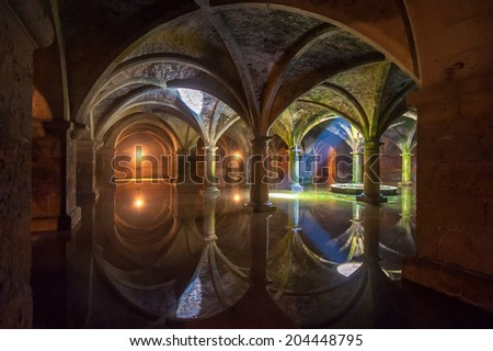 EL JADIDA, MOROCCO - April, 19, 2013: Portuguese Cistern in El Jadida. One of the most important buildings from the Portuguese period in Morocco.