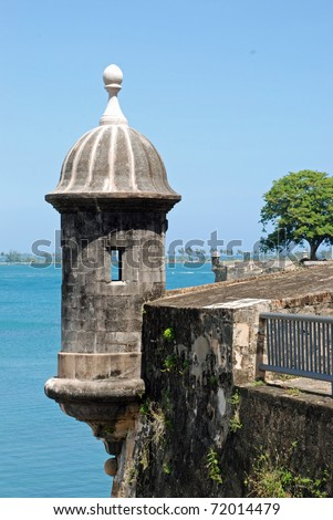 El Morro castle; San Juan, Puerto Rico - stock photo