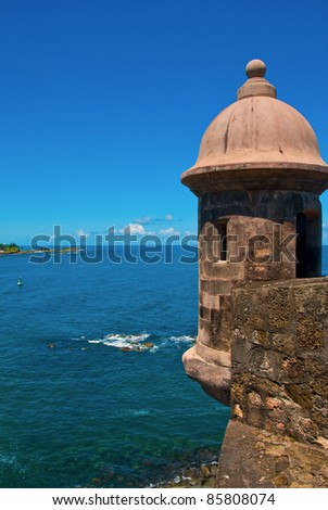 El Morro Fort in Old San Juan - stock photo