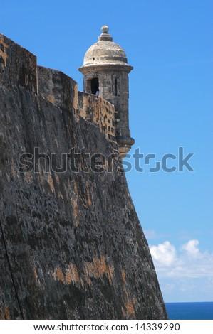 El Morro Fort in San Juan - stock photo
