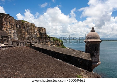 El Morro fort located in Old San Juan Puerto Rico. - stock photo