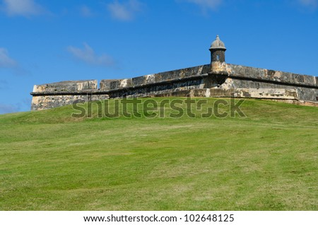 El Morro fortress  in Old San Juan, Puerto Rico - stock photo