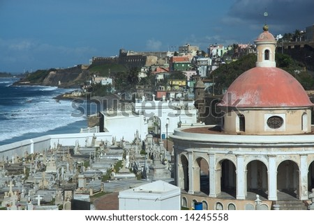 El Morro fortress, Old San Juan - stock photo