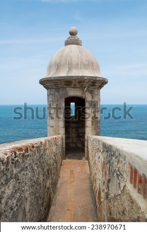 El Morro Turret, Puerto Rico - stock photo