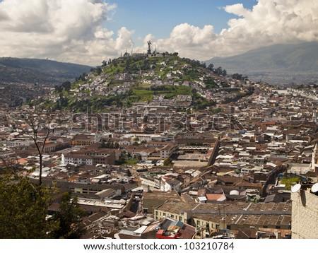 El Panecillo Located Quito Capital Ecuador Stock Photo - Capital of ecuador