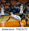 EL PASO - FEBRUARY 6: 54 Brown of the University of Alabama Birmingham fouls 2 Brown of the University of Texas El Paso in the 56 to 62 loss on February 6, 2011 in El Paso, Texas. - stock photo