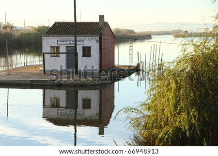 El Perello  La Albufera nature reserve Valencia province Spain - stock photo
