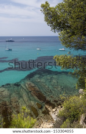 El Portet beach and coast in Moraira, Moraira village, Alicante Province, Costa Blanca, Spain
