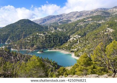 El Portillo Reservoir, Castril, Granada province, Andalusia, Spain