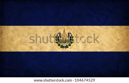 El Salvador grunge flag - stock photo