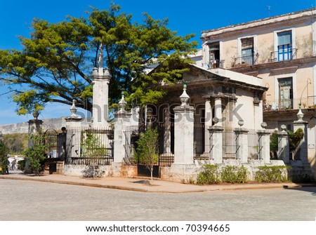El Templete, the ancient building that was the foundation site of Havana - stock photo