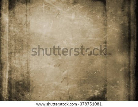 Elaborate detail contrasted with granular filters of vintage canvas paper texture for natural or artisan backgrounds - stock photo