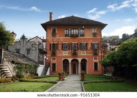 Elaborate villa, Italy - stock photo