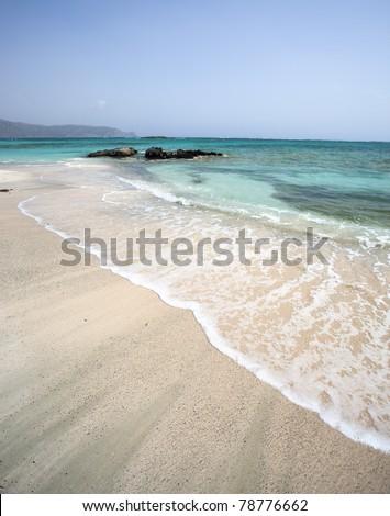 Elafonisi beach (Crete) - stock photo