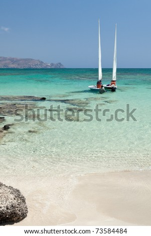 Elafonisi beach (Crete, Greece) - stock photo