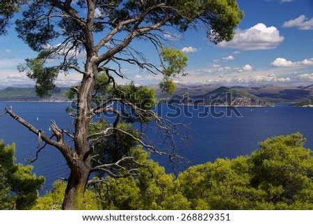 Elaphiti islands - stock photo