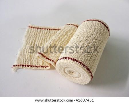 elastic bandage for wound bandages and dressings - stock photo