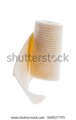 elastic bandage isolated on white