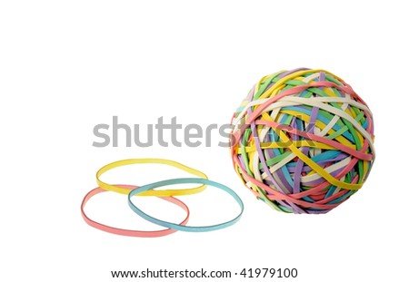 Elastic bands for money. It is isolated on a white background - stock photo