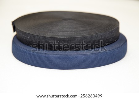 Elastic for clothing isolated on white background,  Focus on front - stock photo
