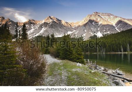 Elbow Lake Kananaskis Country Alberta Canada - stock photo