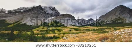 Elbow Pass and Tombstone Lakes area Peter Lougheed Provincial Park, Kananaskis Country Alberta Canada - stock photo