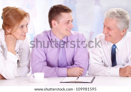 Elderly and young guy, working in very different fields of activity - stock photo