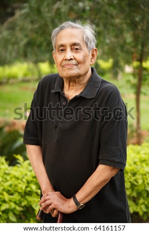 Elderly Asian man - stock photo