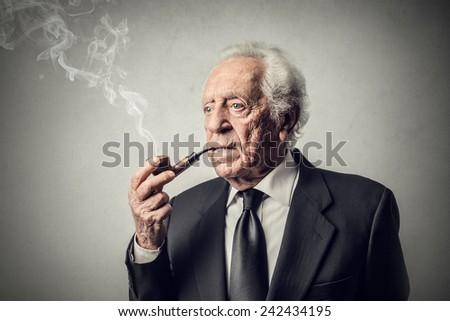 Elderly businessman - stock photo