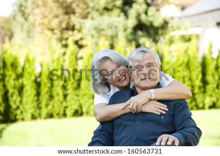 Elderly couple - stock photo