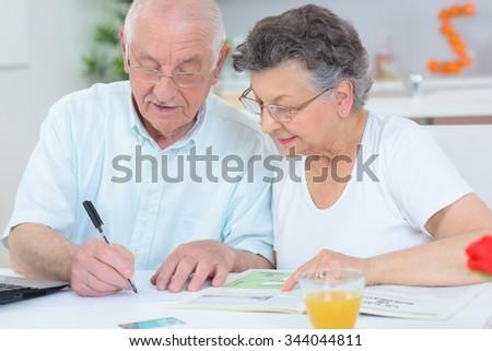 elderly couple - stock photo