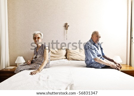 elderly couple in the bedroom