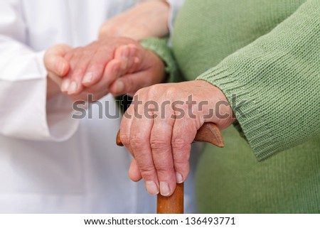 Elderly home care have cultural and geographic differences - stock photo
