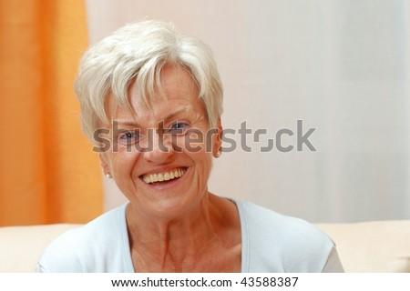 Elderly lady - stock photo