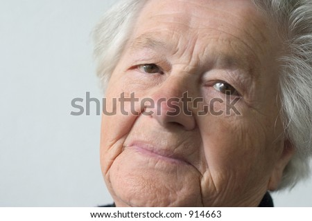 elderly woman.