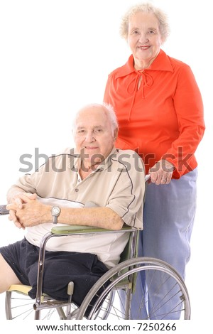 eldery couple - stock photo