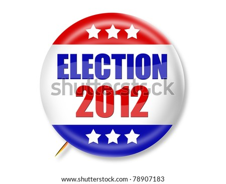 Election 2012 Button - stock photo