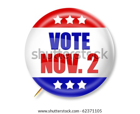 election buttons to encourage voting on Nov. 2nd - stock photo