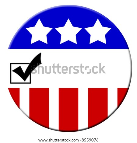 Election 2008 campaign buttons for getting out the vote - stock photo