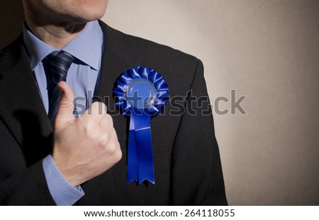 Election Candidate With Thumbs Up - stock photo