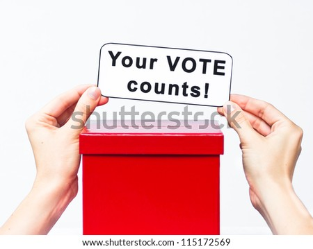 election concept with ballet box - stock photo