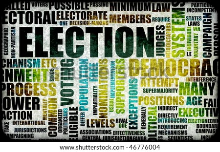 Election Process Campaign as a Concept Background - stock photo